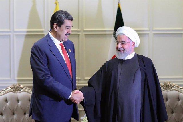 Los presidentes de Venezuela, Nicolás Maduro, e Irán, Hasán Rohani (Imagen de archivo)
