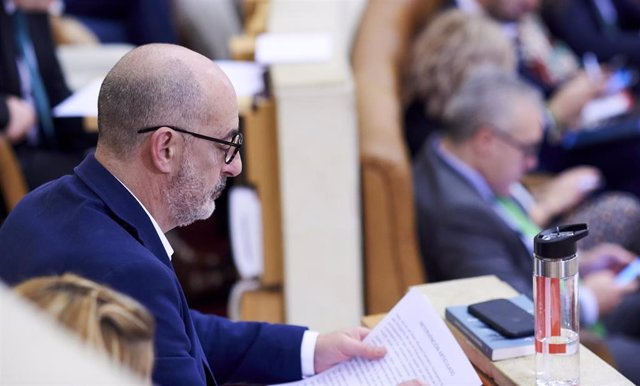 El portavoz del grupo parlamentario Ciudadanos en el Parlamentno de Cantabria, Félix Álvarez,