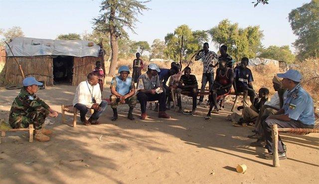 Fuerzas de la UNISFA en Abyei