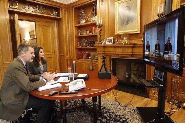 Coronavirus.- Conversación del Rey con Luis de Guindos, vicepresidente del BCE,