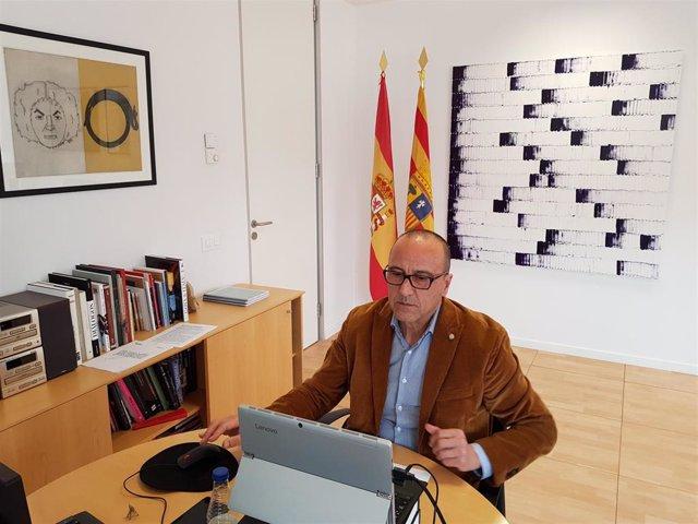 El consejero de Educación, Cultura y Deporte de Aragón, Felipe Faci.