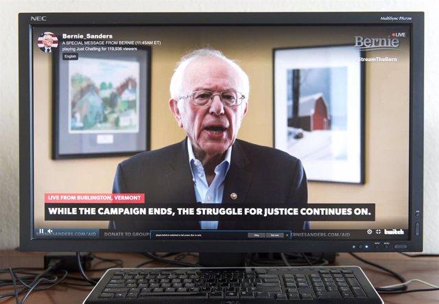 EEUU.- Sanders apoya formalmente a Joe Biden como candidato demócrata a la Casa