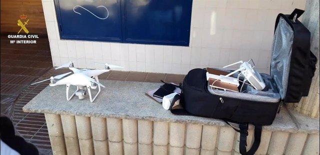 El dron que va trobar la Guàrdia Civil a Puigcerdà (Girona) d'una persona que s'estava saltant el confinament