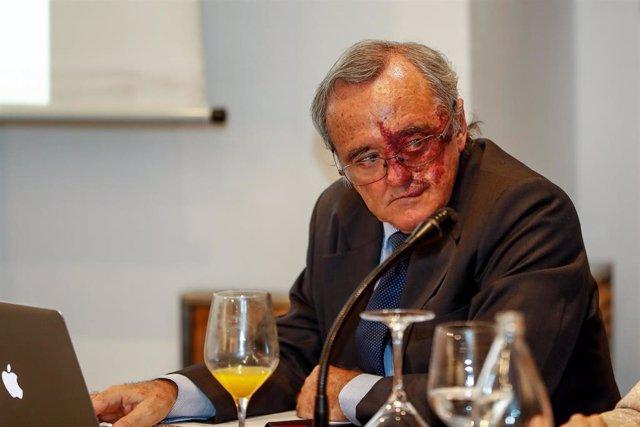 El jefe del Grupo AXA- CNIO de Oncología Experimental de la FSP CNIO adscrita al Instituto de Salud Carlos III, Mariano Barbacid, durante la presentación de los prometedores resultados de una investigación contra el cáncer de páncreas
