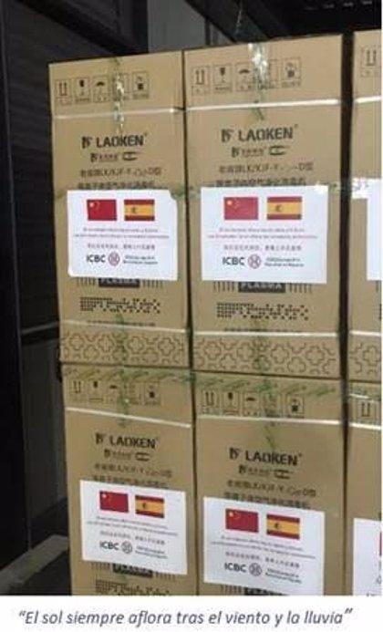 ICBC realiza una donación de material sanitario a España para apoyar su lucha contra el Covid-19