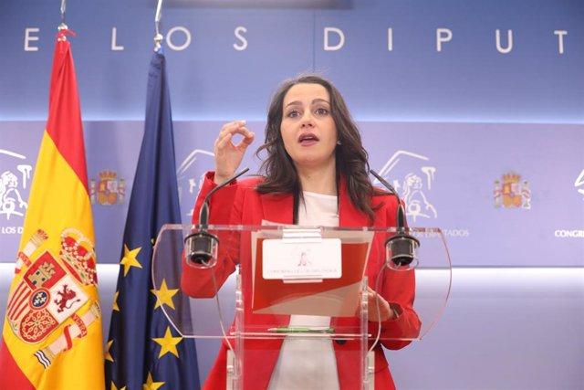 La presidenta de Ciudadanos y portavoz en el Congreso , Inés Arrimadas.