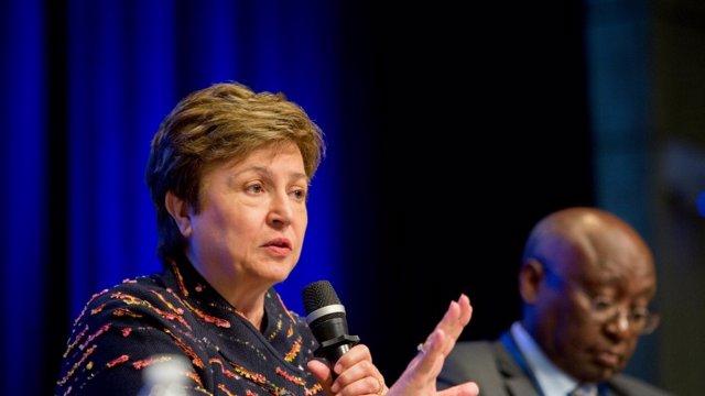 Kristalina Georgieva,  consejera delegada del Banco Mundial y candidata europeo para optar a suceder a Christine Lagarde como directora gerente del FMI
