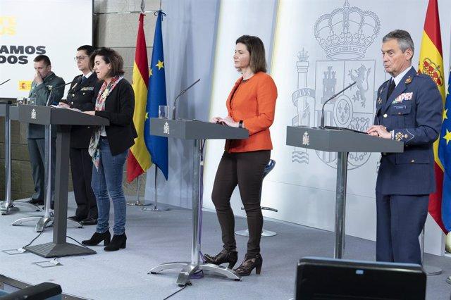 rueda de prensa posterior a la reunión del Comité Técnico de Gestión del Covid-19, en Madrid (España) a 12 de abril de 2020.