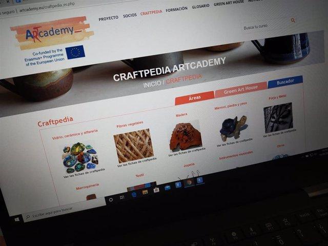 Web donde se incluye CraftPedia, primera enciclopedia virtual europea de artes y oficios