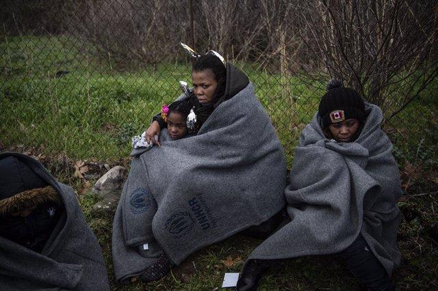 Migrants africans a la illa grega de Lesbos