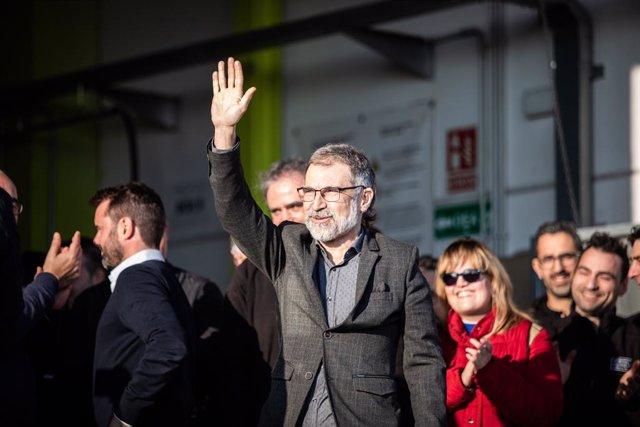 El president d'Òmnium Cultural, Jordi Cuixart, arribant a la seva empresa en una imatge d'arxiu.
