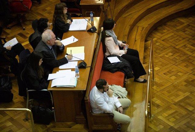 Juicio por el crimen de la Guardia Urbana en la Audiencia de Barcelona con los acusados Rosa Peral y Albert López, el 3 de febrero de 2020.