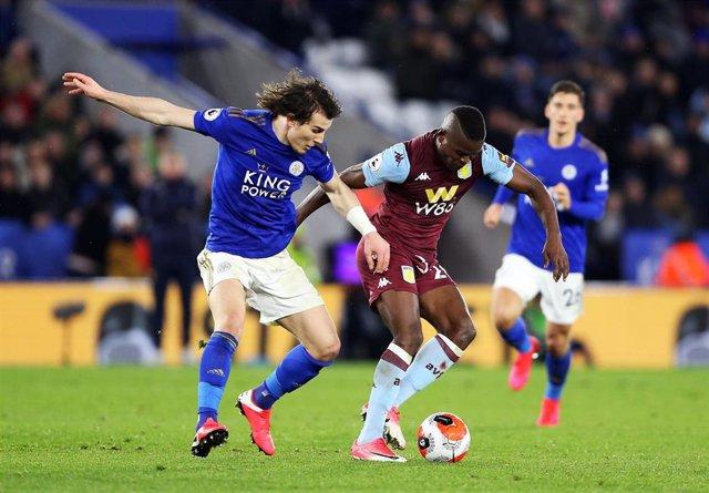 Imagen del partido de la Premier entre el Leicester City y el Aston Villa