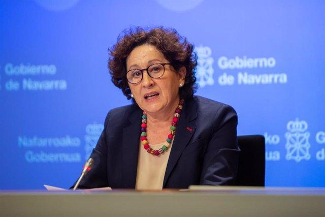 La consejera de Derechos Sociales, Mari Carmen Maeztu