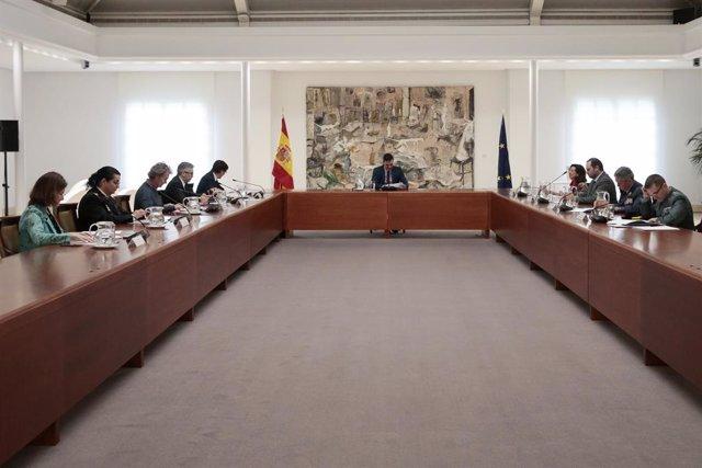 El presidente del Gobierno, Pedro Sánchez, preside la reunión del Comité Técnico de Gestión del COVID-19