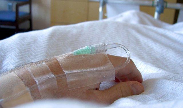 Paciente ingresado en un hospital