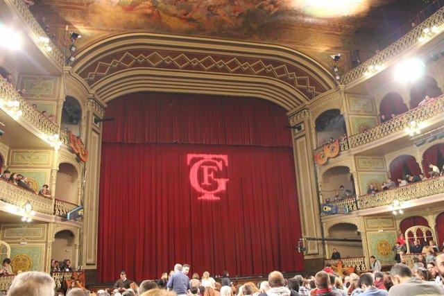 Imagen del interior del Gran Teatro Falla
