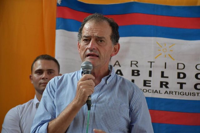 El líder del partido uruguayo Cabildo Abierto, Guido Manini Ríos