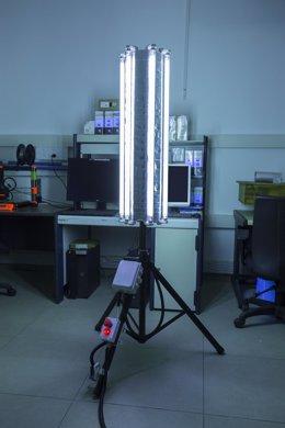 Lámpara de rayos UV para matar virus y bacterias