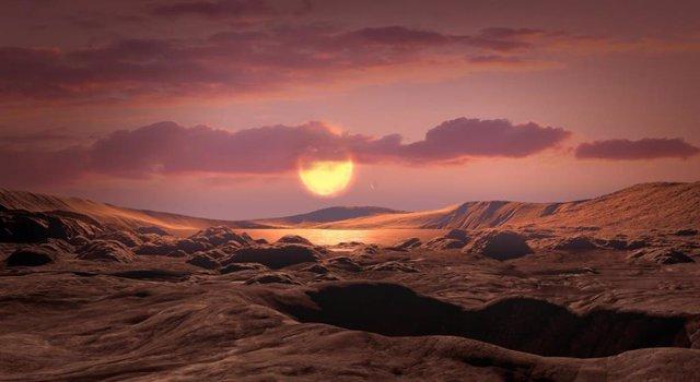 Recreación artística de la posible superficie de Kepler-1649c