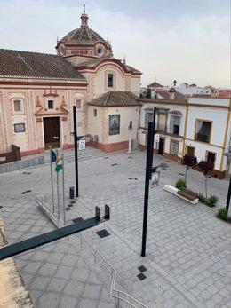 El centro de Bollullos, vacío