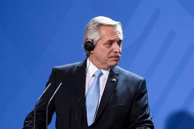 El presidente de la República de Argentina, Alberto Fernández