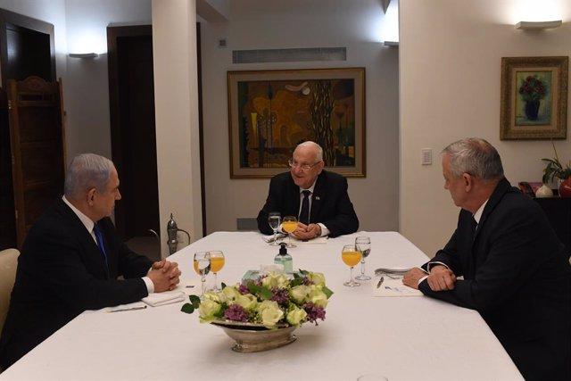 AMP.- Israel.- Netanyahu y Gantz no alcanzan un acuerdo para formar un gobierno