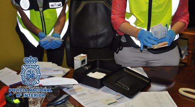 Efectos intervenidos en la detención de un presunto capo de la droga al que se atribuye un tiroteo