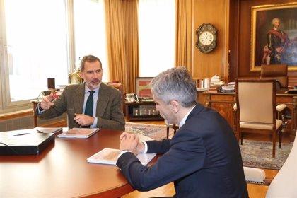 Rey Felipe.- VÍDEO: El Rey destaca la coordinación entre cuerpos policiales en una reunión con participación de Cataluña y Euskadi