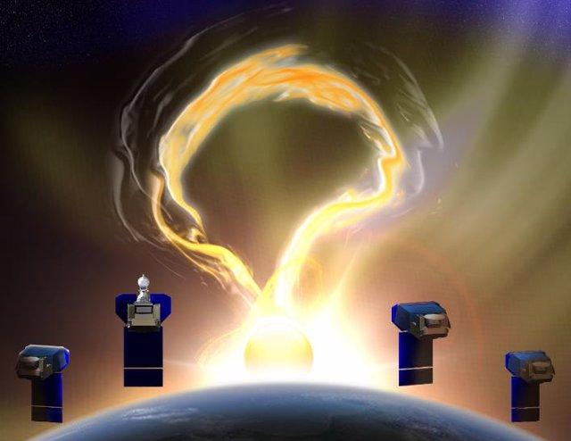 Cuatro microsatélites observarán el viento que sale de la corona solar