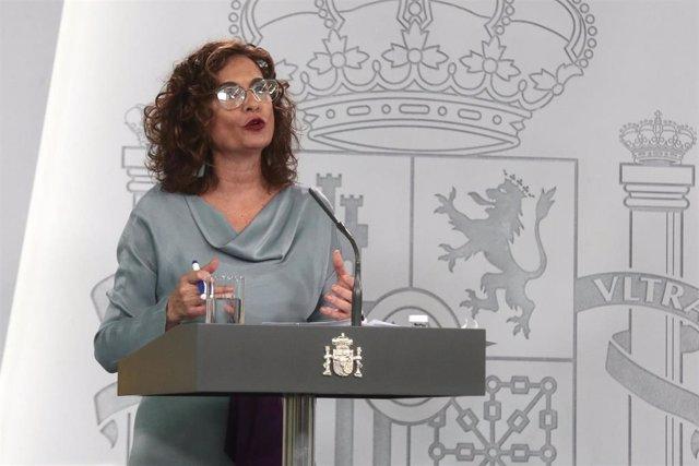 La ministra de Hacienda y portavoz del Ejecutivo, María Jesús Montero