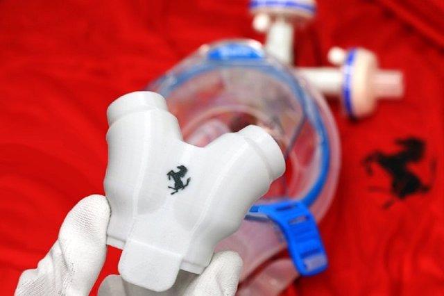 Fórmula 1.- Ferrari fabrica válvulas y accesorios de máscaras para luchar contra