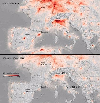 La contaminación sigue baja en Europa por la lucha contra el COVID19