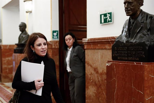 La vicesecretaria general del PSOE y portavoz parlamentaria, Adriana Lastra