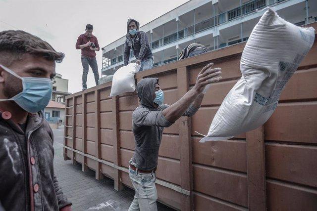 UNRWA food aid in Gaza