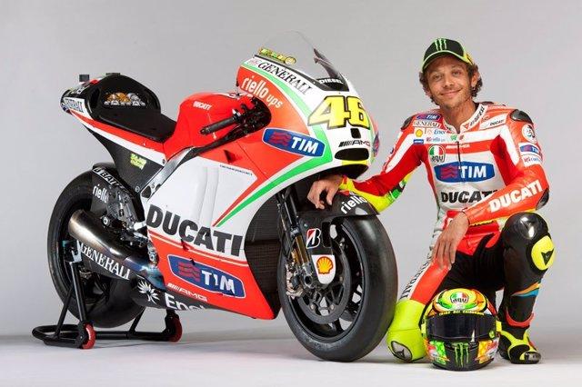 Valentino Rossi con Ducati