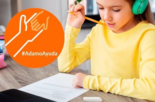 Proyecto #Adamoayuda para ofrece acceso gratuito a Internet a familias sin recursos para que los niños puedan seguir su formación telemáticamente