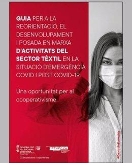 Portada de la guía editada por la Generalitat y Fevecta para ayudar a emprendedores de cooperativas textiles a hacer mascarillas homologadas