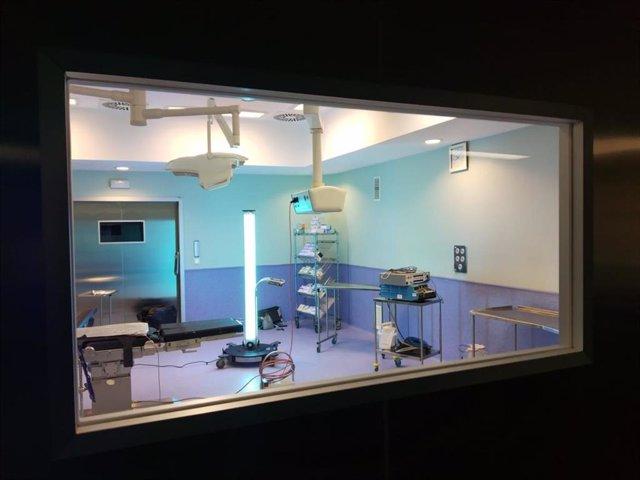 El Hospital de Fuenlabrada utiliza tecnología innovadora para la desinfección de sus instalaciones.