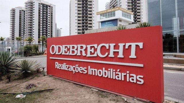 Logo de Odebrecht.