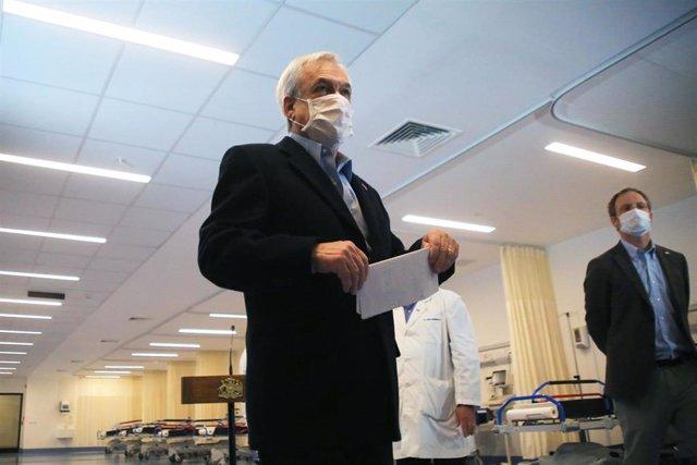 El presidente de Chile, Sebastián Piñera, con mascarilla por el coronavirus