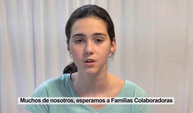 Imagen de la campaña de la Junta de Andalucía para fomentar que menores en centros de protección convivan temporalmente con familias