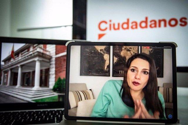 La presidenta de Ciudadanos y portavoz en el Congreso de los Diputados, Inés Arrimadas