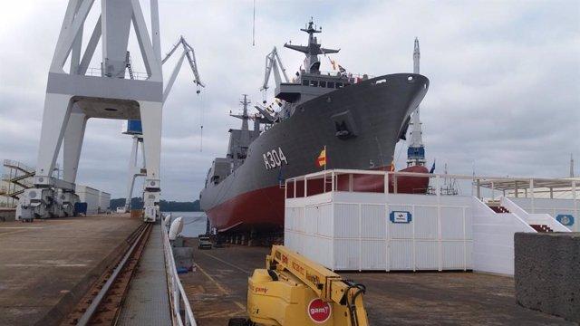 Botadura del buque logístico de la Armada australiana 'Stalwart' en Navantia
