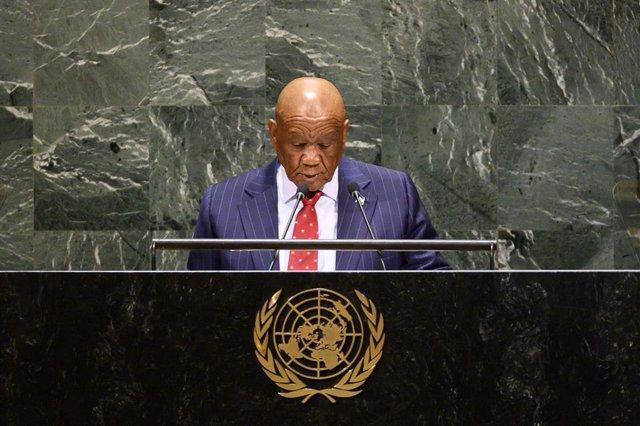 El primer ministro de Lesoto, Thomas Thabane