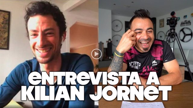 Kilian Jornet, entrevistado para el canal en YouTube de Valentí Sanjuan.