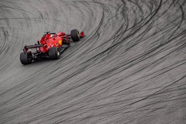 Charles Leclerc (Ferrari), en una carrera de Fórmula 1.