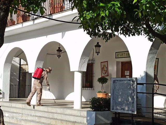 La armada actúa en una localidad de Cádiz