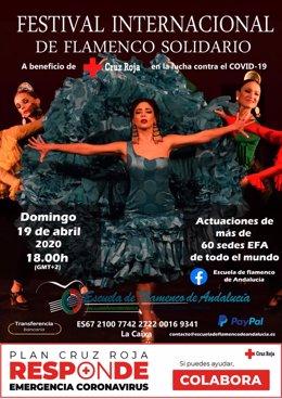 La Escuela de Flamenco de Andalucía organiza un festival online este domingo a beneficio de Cruz Roja.