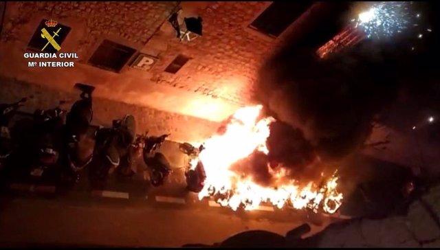 Incendio en Sóller.